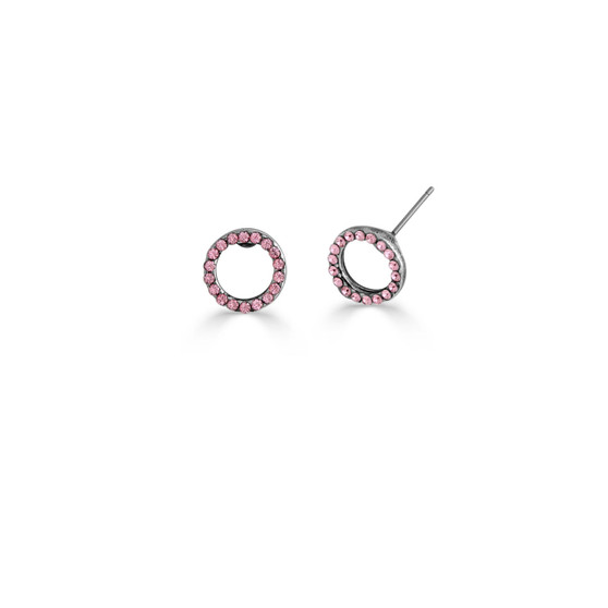 Light Rose Illusion Stud Earrings (E4501)