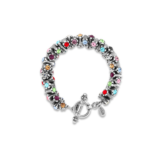 Rainbow Dazzling Bracelet(B1554 S/M)
