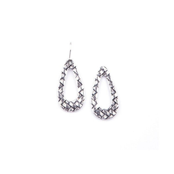 Burnished Silver Pattern Earrings(E2464) - ships immediately from Perth