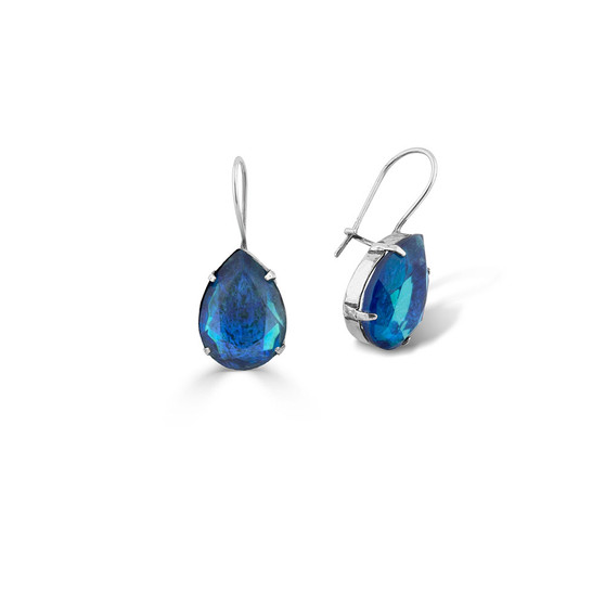 Bold Maya Blue Drop Earrings (E4509)