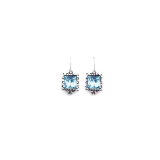 Kashmir Aqua Drop Earrings (E2573)