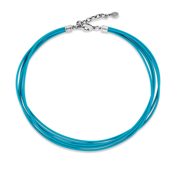 Blue Sea Leather Necklace (N2046)