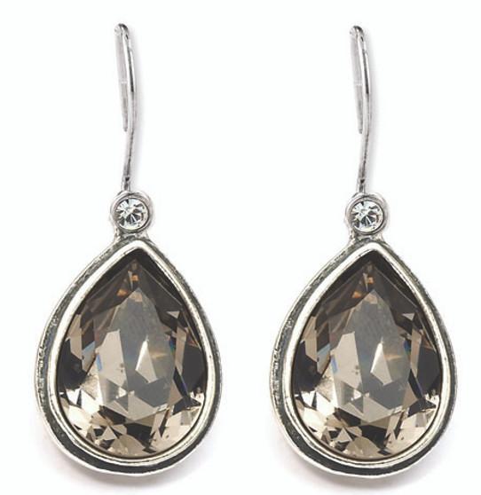 Black Diamond Teardrop Earrings (E2268) - Ships immediately from Perth