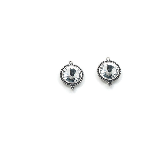 Round Crystal Earrings (E2032) - ships immediately from Perth