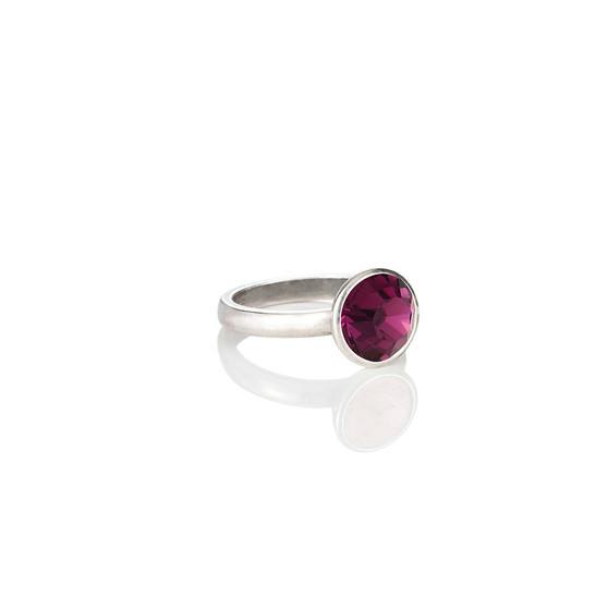 Glam Rock Amethyst  Ring ( RR135 K/N/P/R )