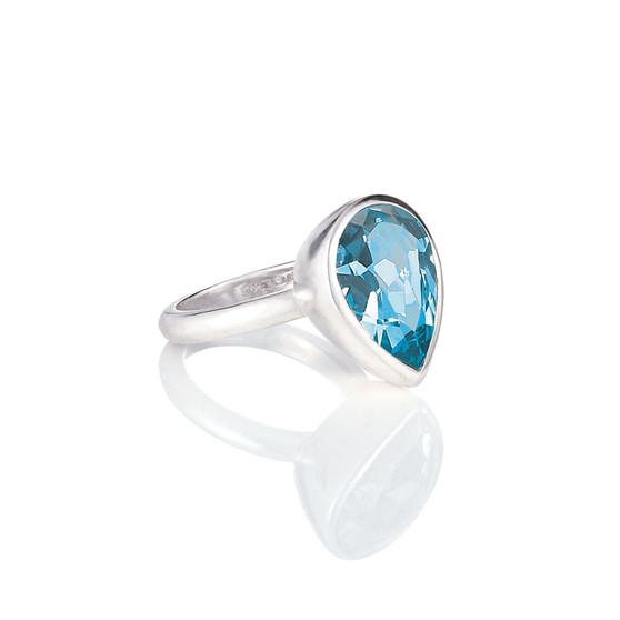 Bold Aquamarine Teardrop Ring