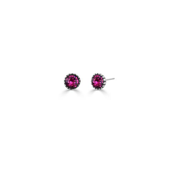 Sweetheart Fuschia Stud Earrings (E4604)