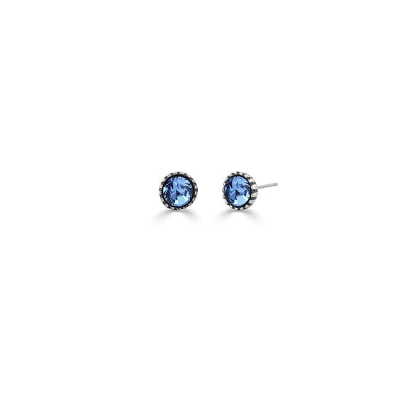 Sweetheart Light Sapphire Stud Earrings (E4605)