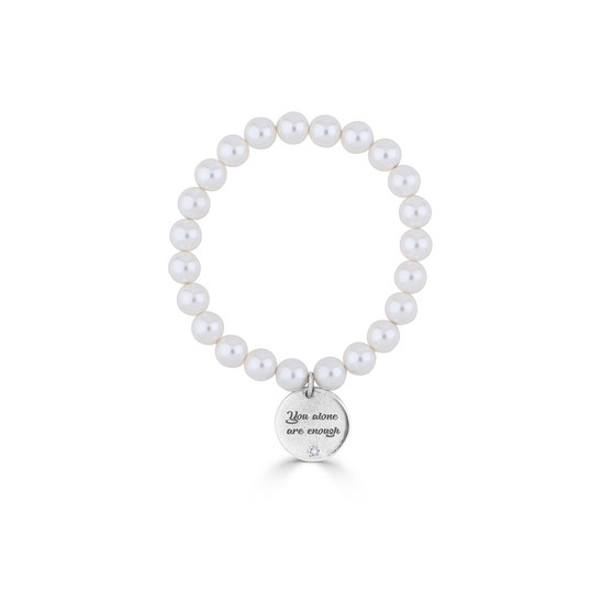 You Are Enough Pearl Bracelet (B1563)