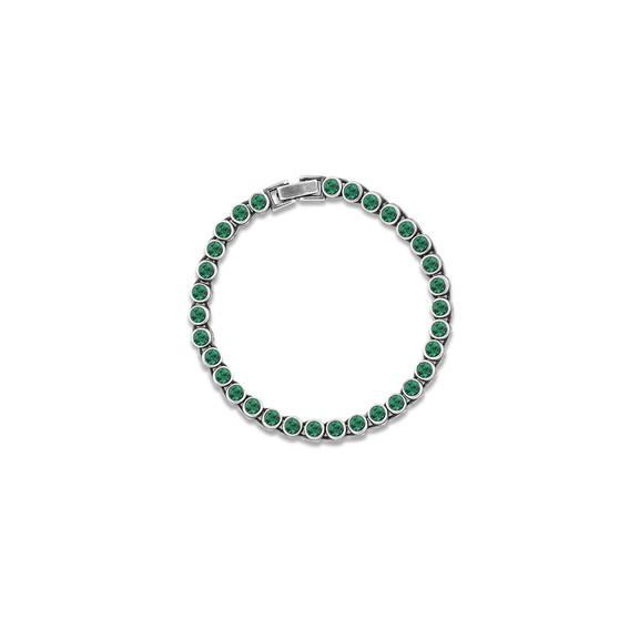 True Gem Emerald Tennis Bracelet (B1568)