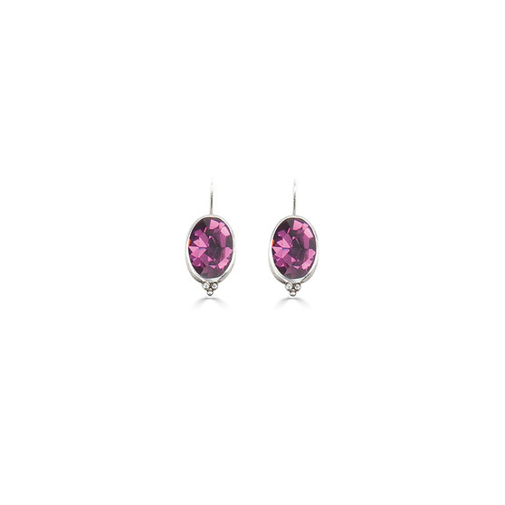Charmed Amethyst Drop Earrings (E4659)