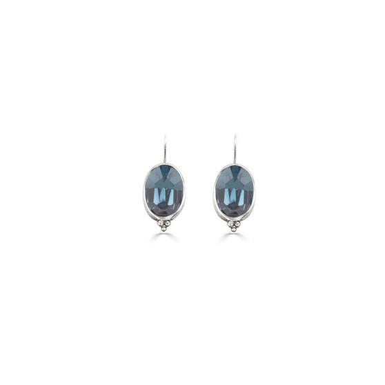 Charmed Denim Blue Drop Earrings (E4665)