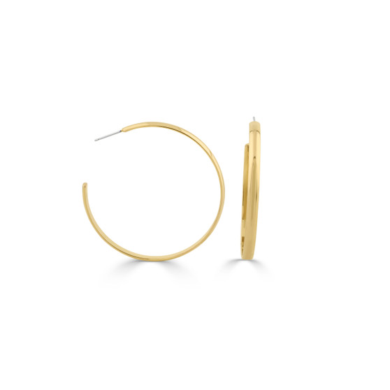 Minimalist 18ct gold-plated Hoop Earrings