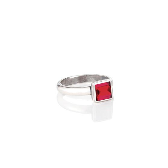 Petite Square Siam Ring