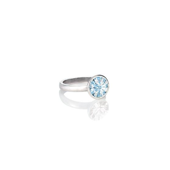 Glam Rock  Aquamarine Ring