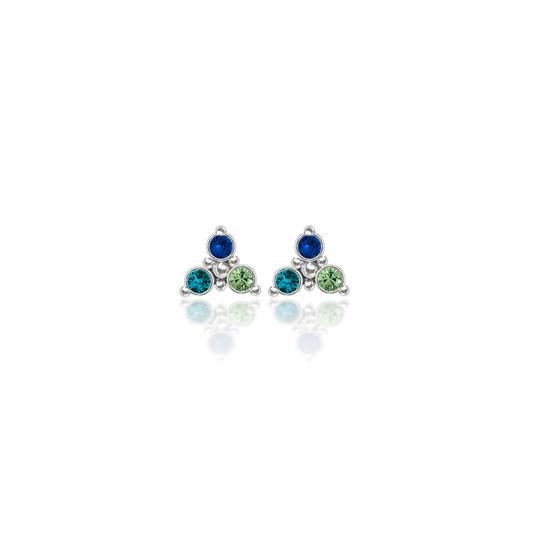 Capri Trilogy Cluster Stud Earrings