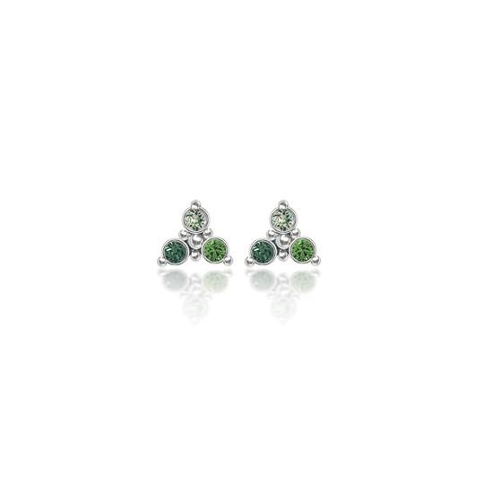 Sage Trilogy Cluster Stud Earrings