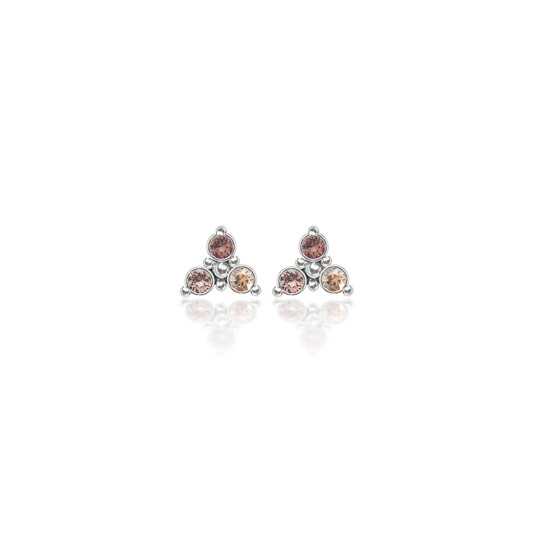 Tawny Rose Trilogy Cluster Stud Earrings