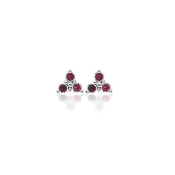 Cherry Trilogy Cluster Stud Earrings