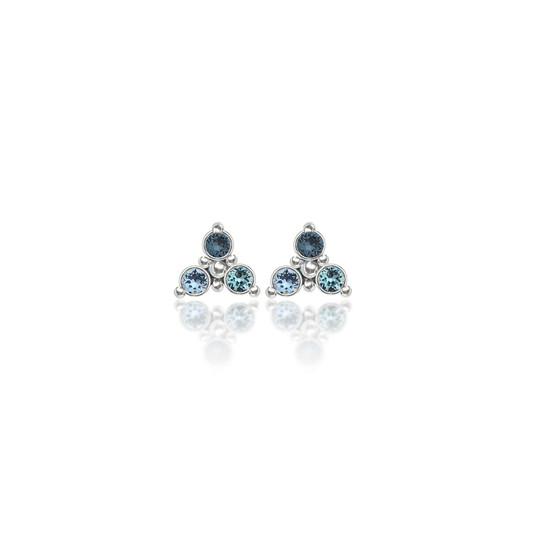 Ski Trilogy Cluster Stud Earrings