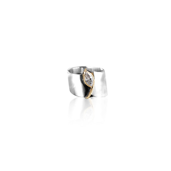 Winter Light Ring - Sterling Silver 925 ∙ 9ct Gold