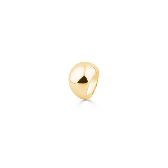 18ct Gold Vermeil Dome Allure Ring