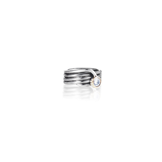 Modernist Ring - Sterling Silver 925 ∙ 9ct gold