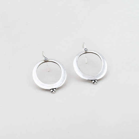 Smooth Oval Drop Earrings (E2737) - ships immediately from Perth