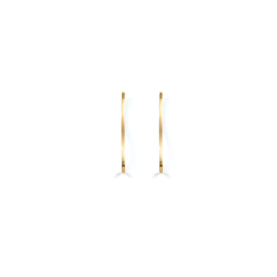 18ct Gold-plated Linear Earrings