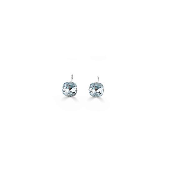 Petite Summer Blue Light Azure Huggie Drop Earrings