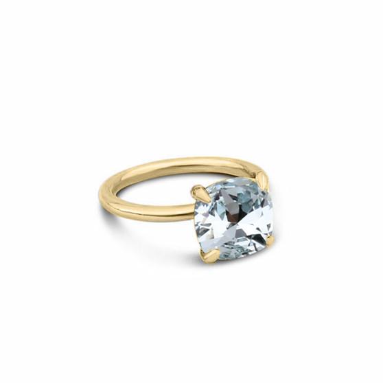 Hello Sunshine Light Azure Gold Vermeil Ring