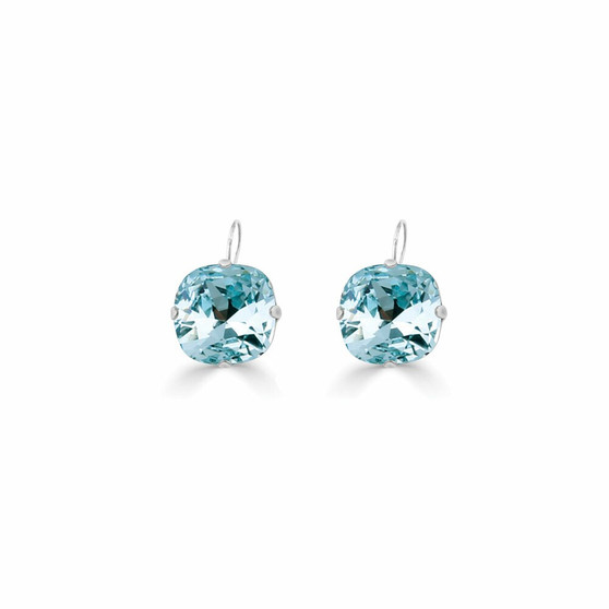 Petite Summer Life Aquamarine Huggie Drop Earrings