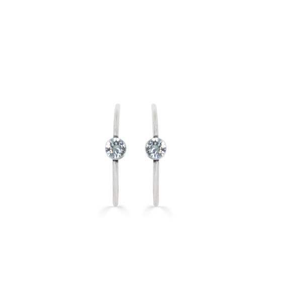 Neptune Light Azure Hoop Earrings