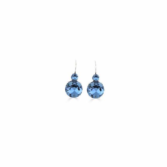 Summer Sparkle Denim Blue Drop Earrings