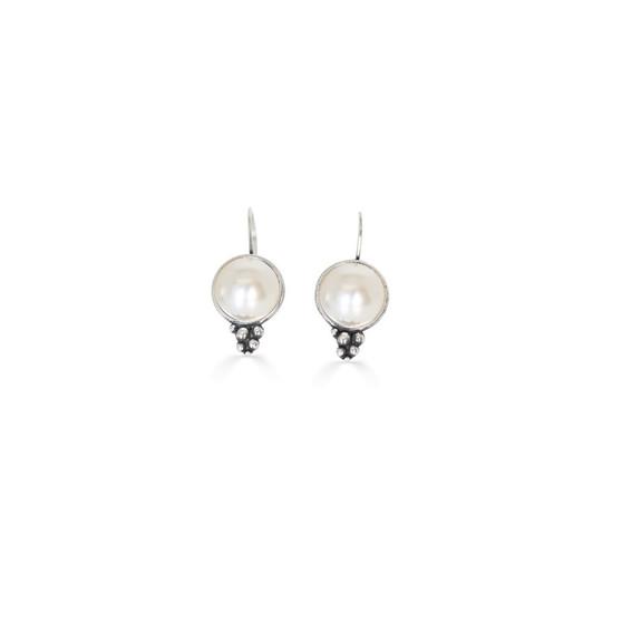 Ocean Beauty  Pearl Drop Earrings