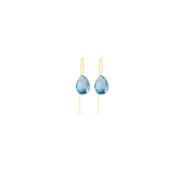 Caprice Aquamarine Gold Vermeil Teardrop Earrings