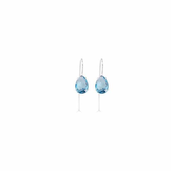 Caprice Aquamarine Sterling Silver Teardrop Earrings