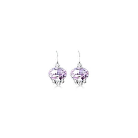 Feel Good Violet Drop Earrings