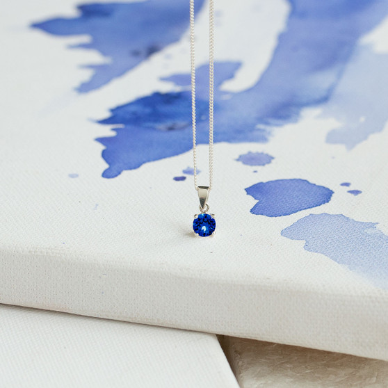Sterling Silver Necklace With Petite Pendant
