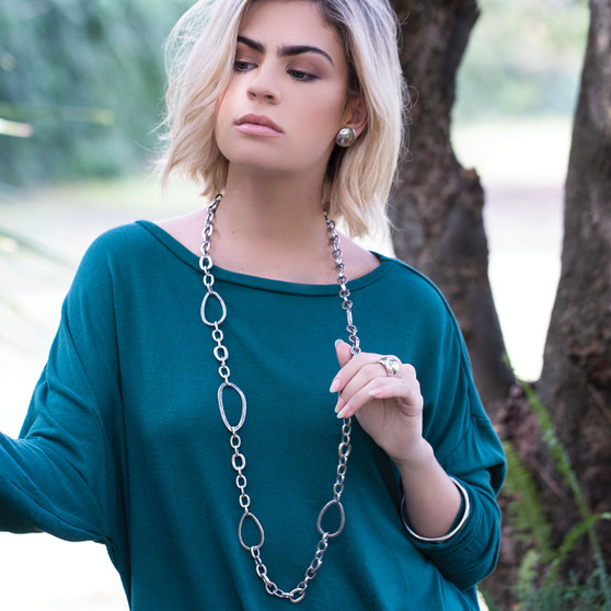 La Femme Metale Necklace (N1624)-$159