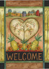 Welcome Heart - Garden Flag by Toland