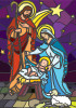 Stained Glass Nativity - Garden Flag by Serious