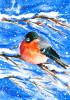 Snow Finch - Garden Flag by Serious