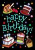 Happy Birthday Cake - Garden Flag by Toland