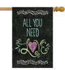 All You Need Is Love - Standard Flag by Toland