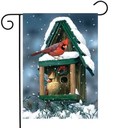 Cardinals in Snow - Garden Flag by Toland