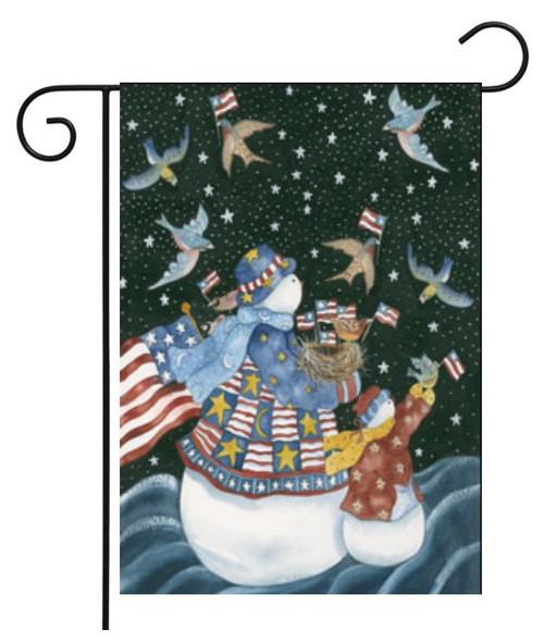 American Snowman - Garden Flag by Toland
