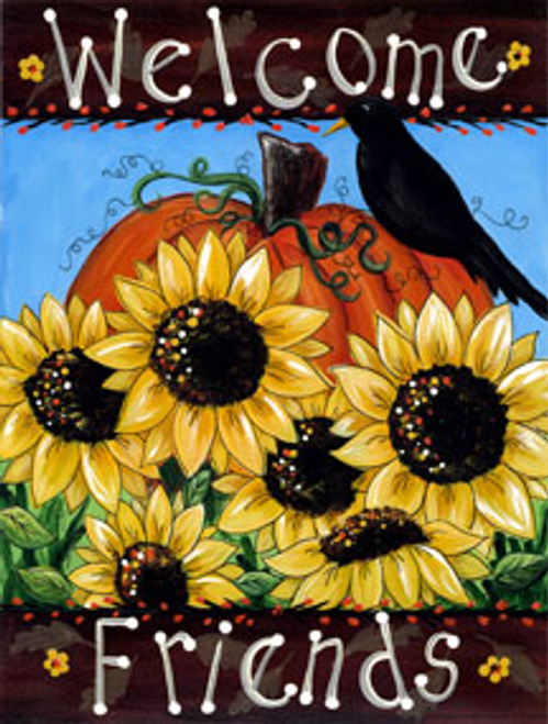 Welcome Friends - Garden Flag by Toland