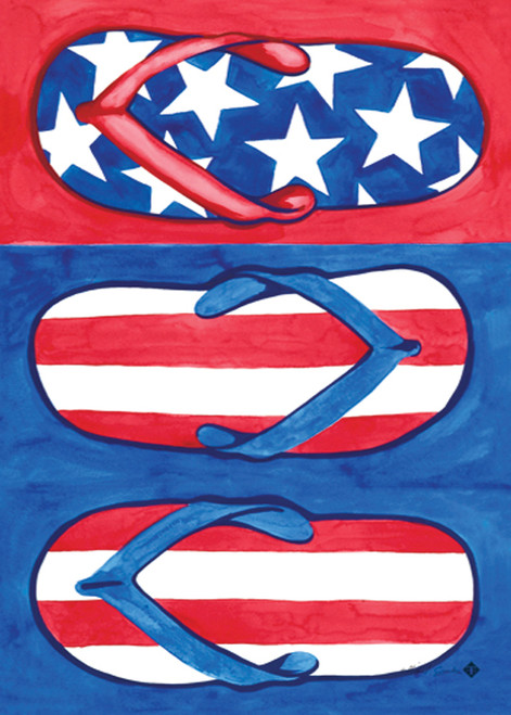 Patriotic Flips - Garden Flag by Toland