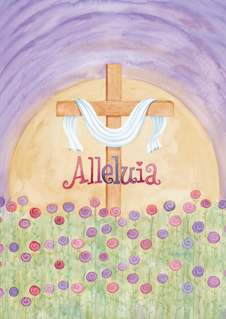 Alleluia - Garden Flag by Toland
